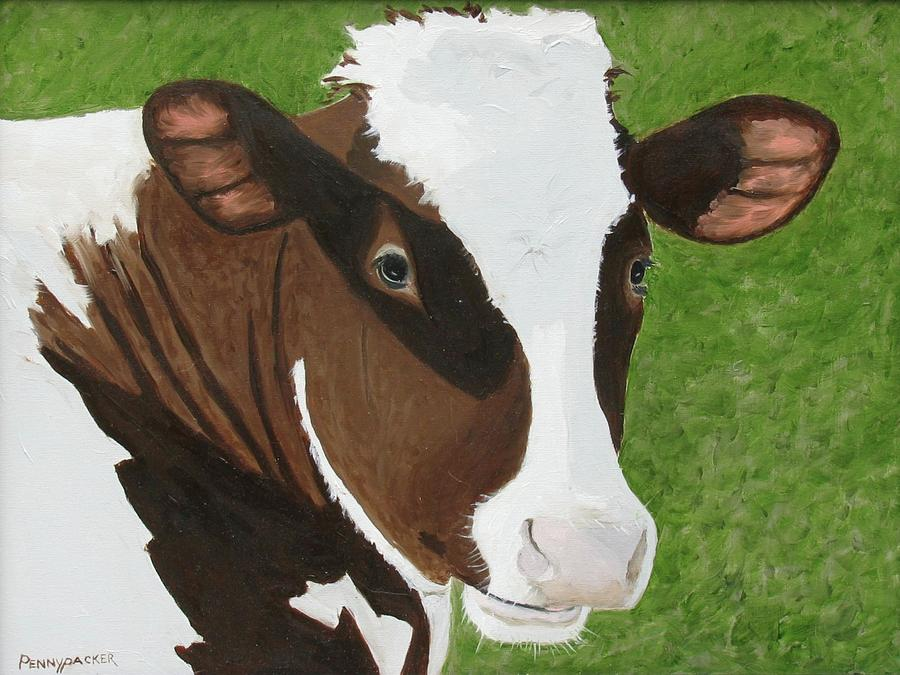 The Friendly Cow all Red and White by Barb Pennypacker