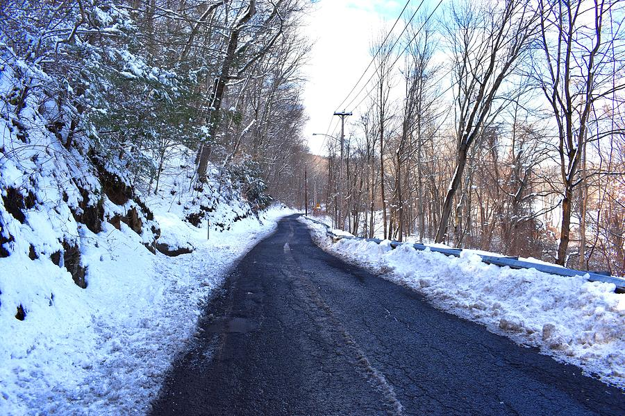 The Frozen Country Roads of Indian Well State Park by Nina Kindred