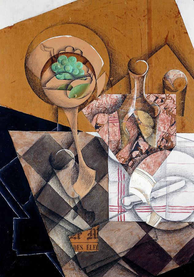 Juan Gris Painting - The Fruit Bowl, 1914 by Juan Gris