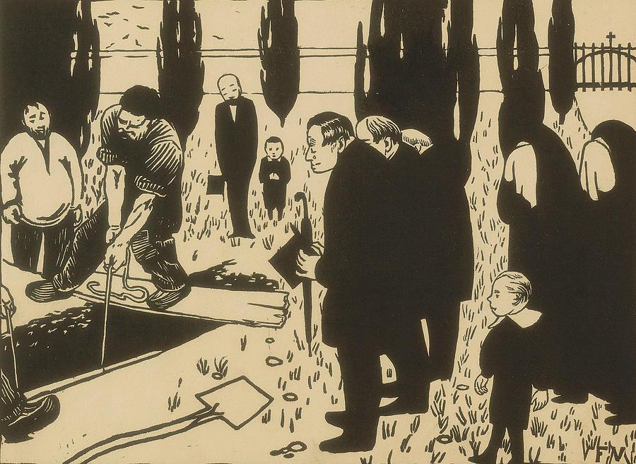 The Funeral by Felix Edouard Vallotton