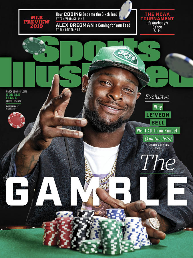 The Gamble New York Jets Leveon Bell Sports Illustrated Cover Photograph by Sports Illustrated