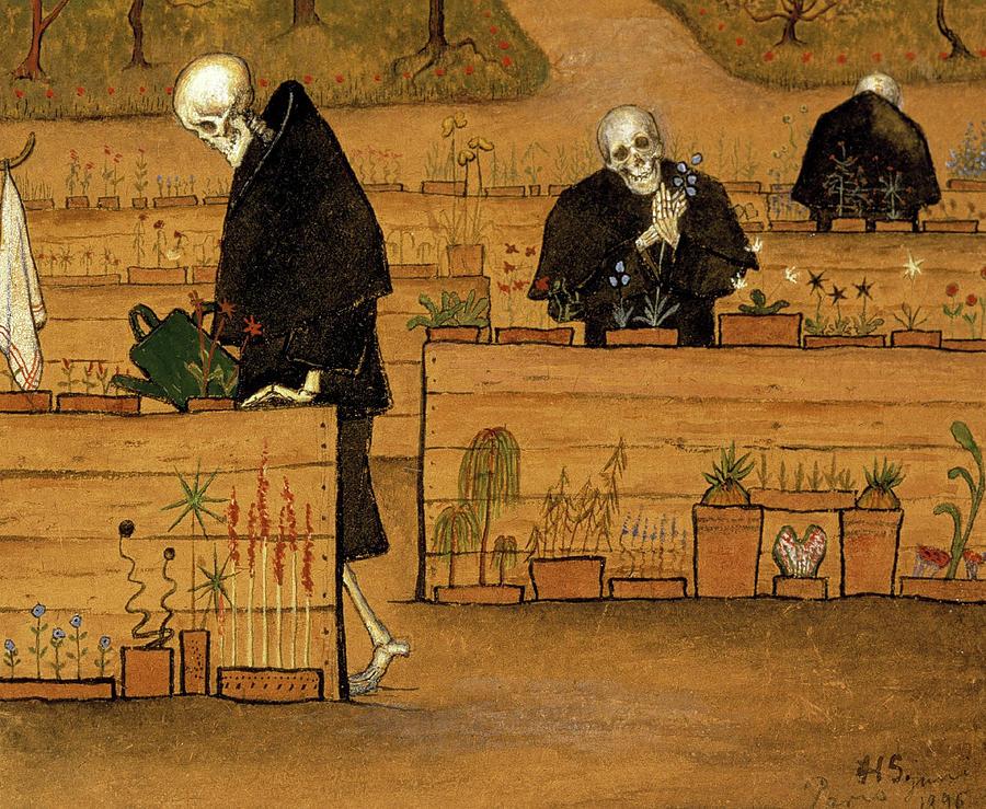 Hugo Simberg Painting - The Garden of Death, 1896 by Hugo Simberg