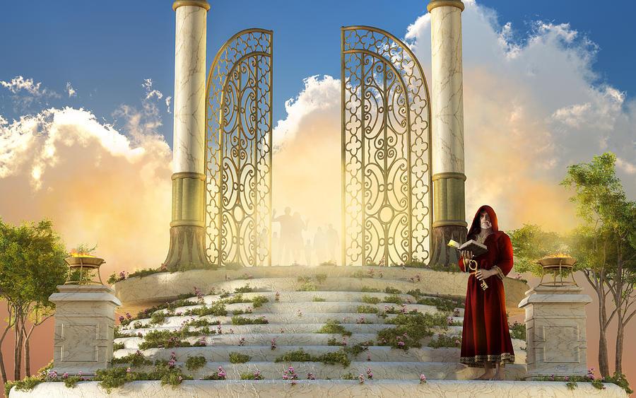 Gates Of Heaven Digital Art - The Gates of Heaven by Daniel Eskridge