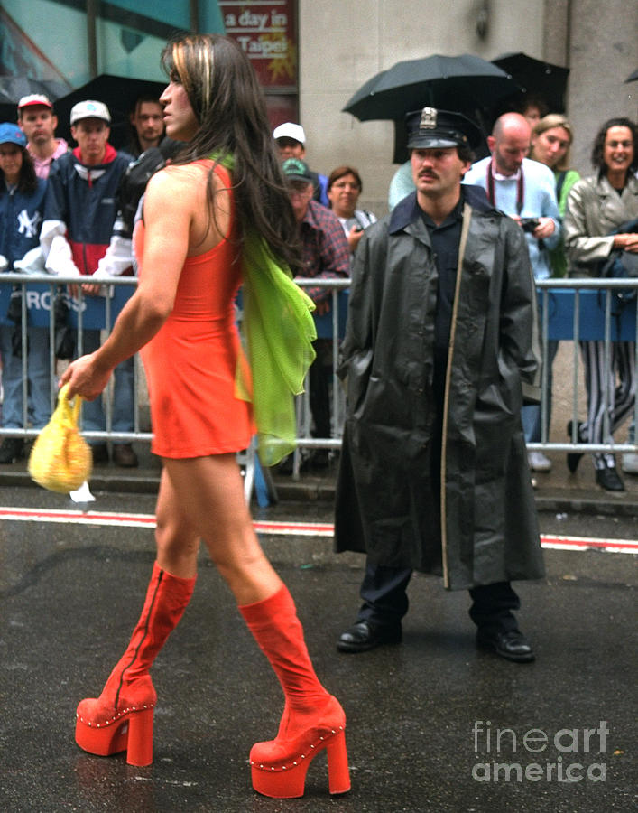 The Gay And Lesbian Pride Parade On Photograph By New York -8159