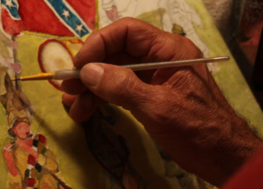 The Gentle Touch of an Artists Hand. by Philip Bracco