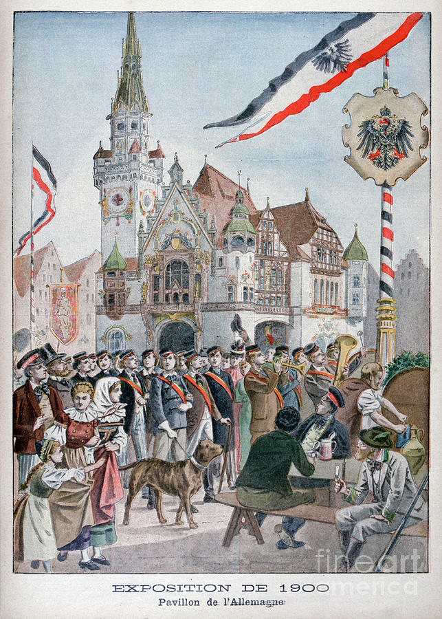 The German Pavilion At The Universal Drawing by Print Collector