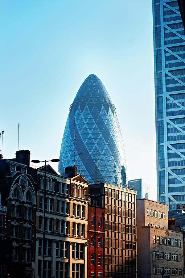 The Gherkin Building, London, England Photograph by Liam Norris