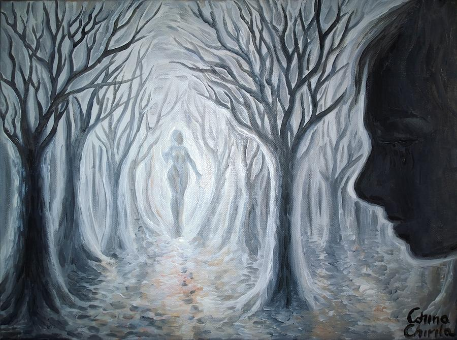 Ghost Painting - The Ghost Of A Loved One by Chirila Corina