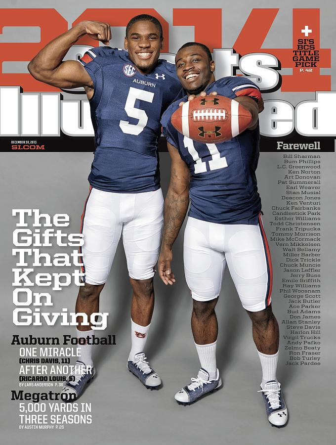 The Gifts That Kept On Giving Auburn Football Sports Illustrated Cover Photograph by Sports Illustrated