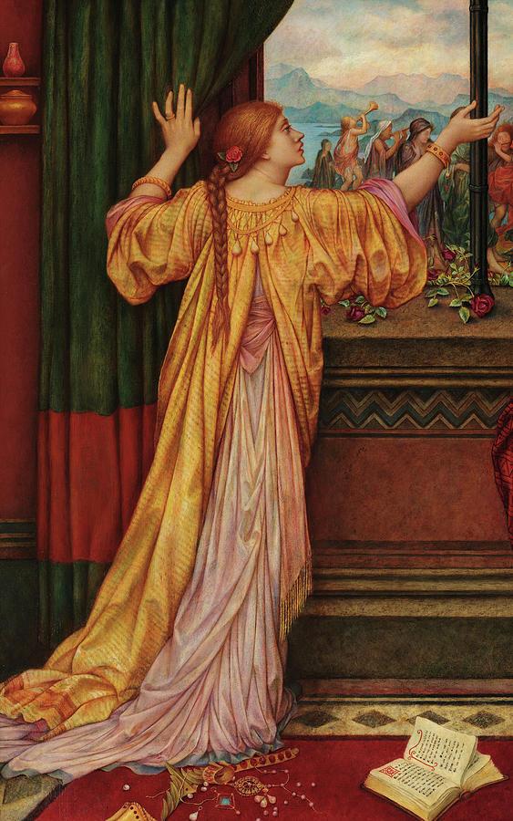 Evelyn De Morgan Painting - The Gilded Cage, Circa 1902 by Evelyn De Morgan