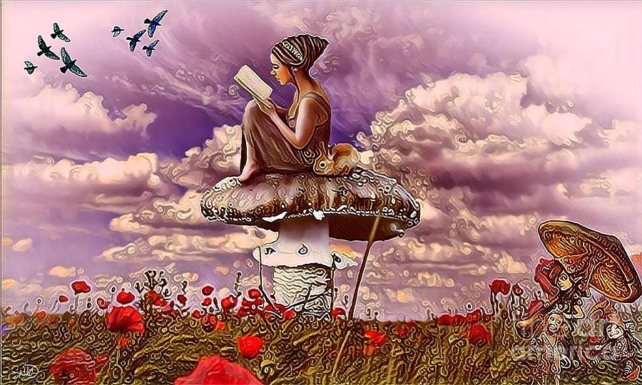 The Girl On The Mushroom Digital Art