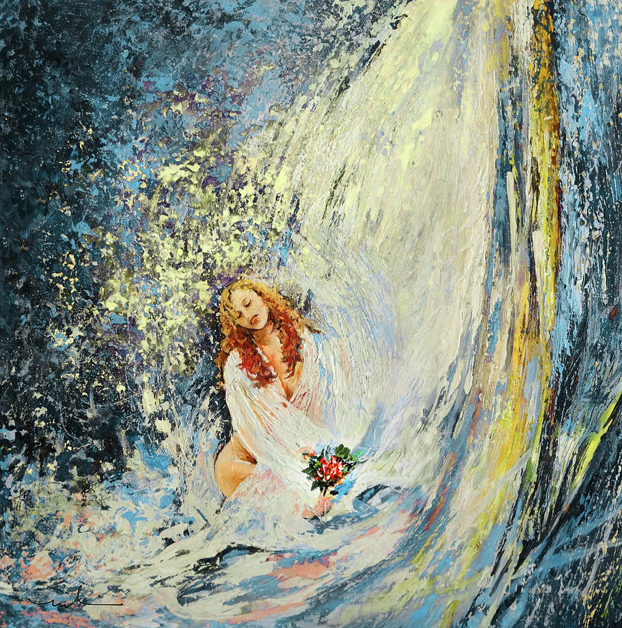 The Girl Under The Waterfall bis by Miki De Goodaboom