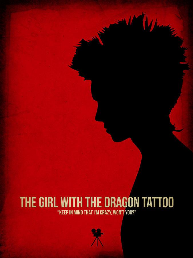 Movies Digital Art - The Girl With A Dragon Tattoo by Naxart Studio