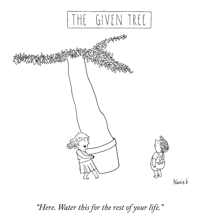 The Given Tree Drawing by Navied Mahdavian