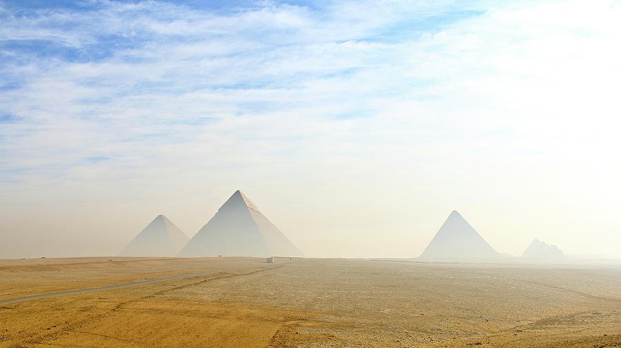 The Giza Pyramids Viewed From Distance Photograph by Kanwal Sandhu
