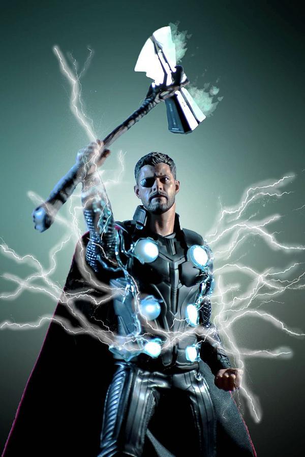 The God Of Thunder Digital Art by Jeremy Guerin