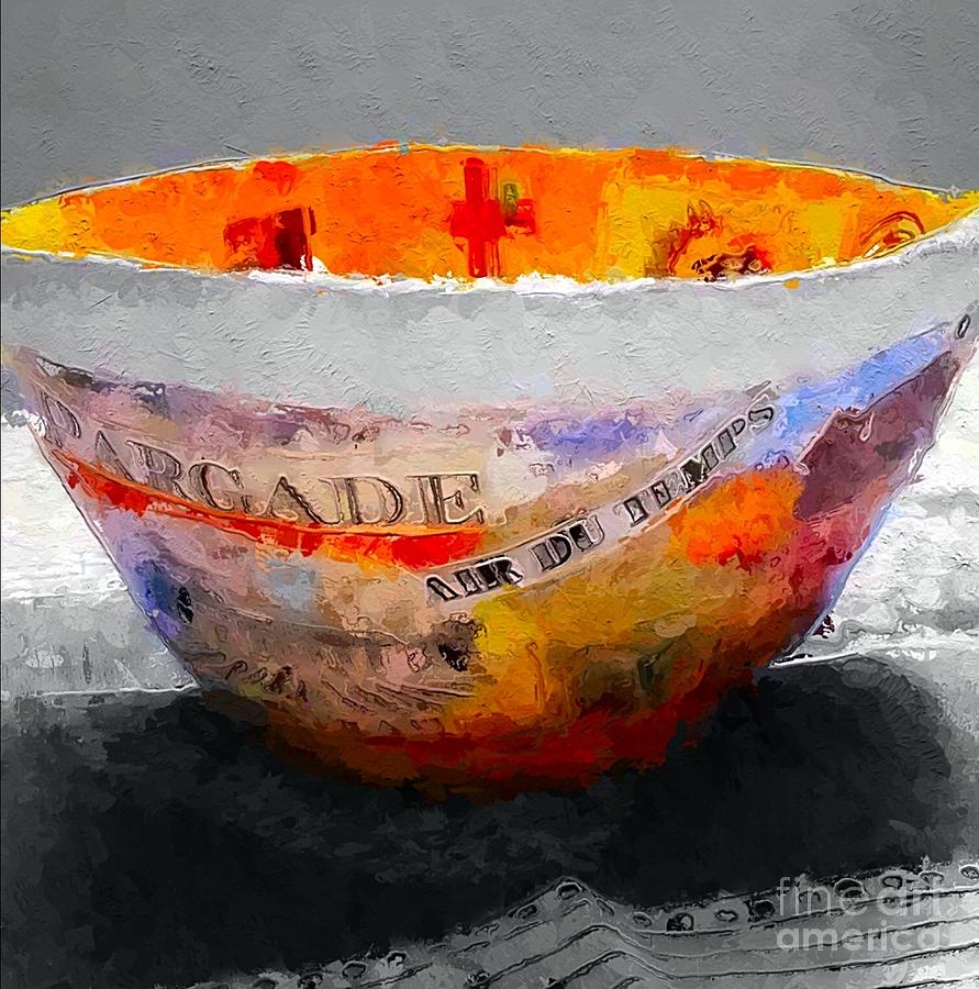 Colorful Painting - The Golden Bowl Still Life by Terri Price