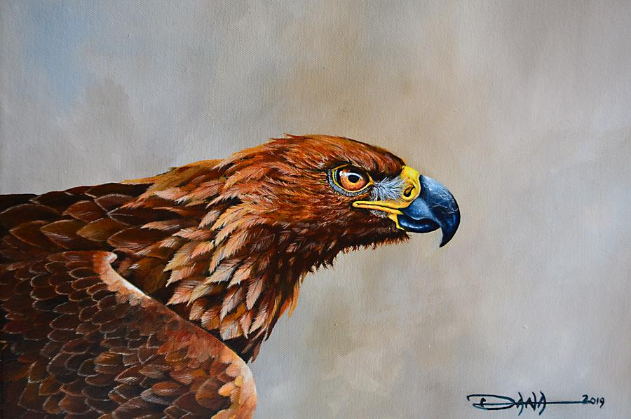 Birds Painting - The Golden Eagle by Dana Newman