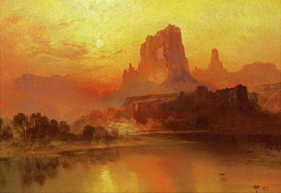 Thomas Moran Painting - The Golden Hour - Digital Remastered Edition by Thomas Moran