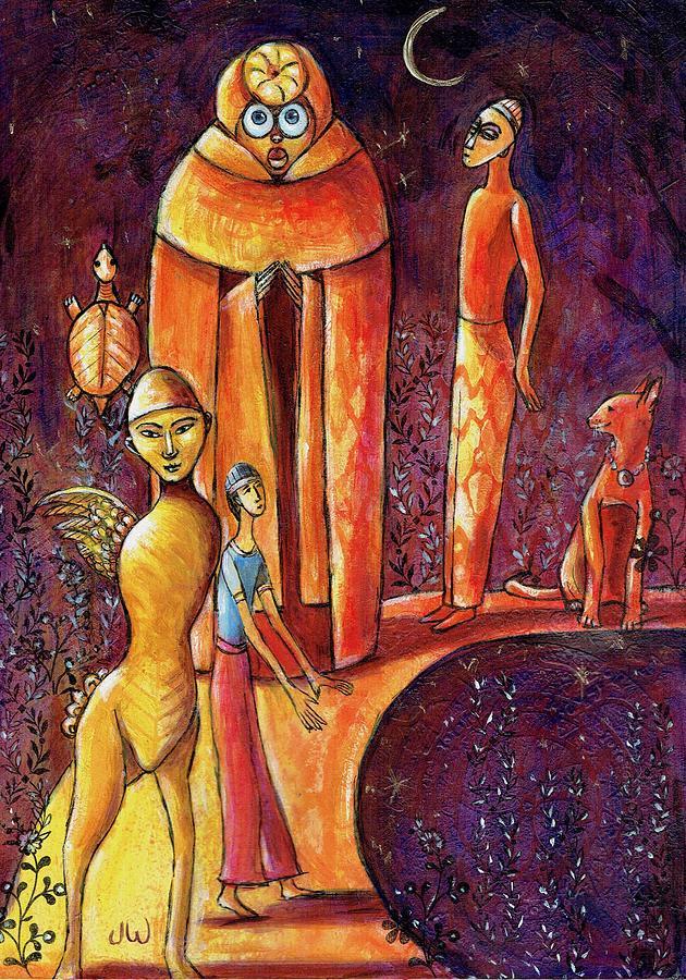 The golden pathway by June Walker