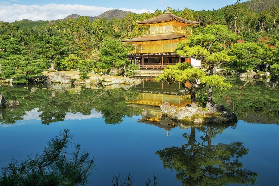 The Golden Pavilion Garden Landscape in Kyoto, Japan by Daniela Constantinescu