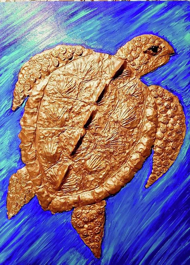The Golden Turtle Mixed Media