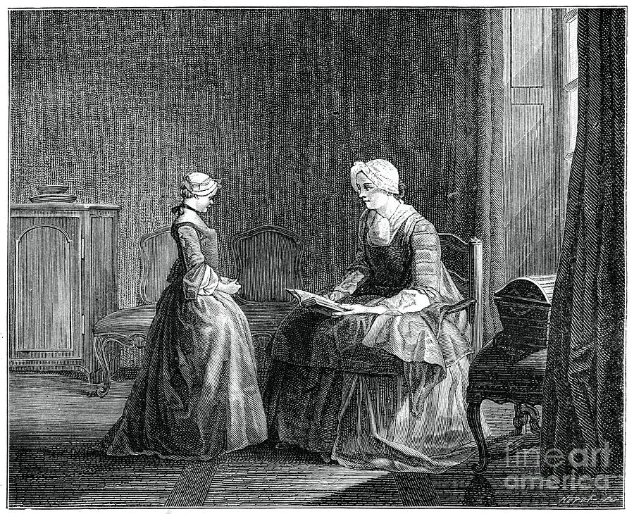 The Good Education, 1753, 1885.artist Drawing by Print Collector