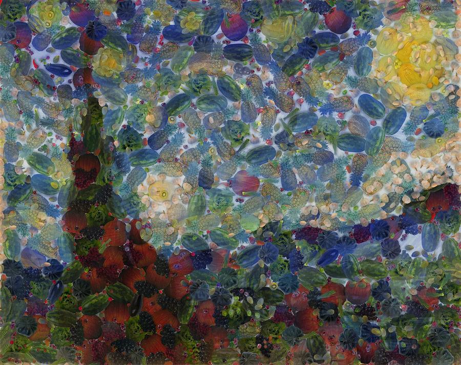 The Gourdy Night Starry Night Parody by Taiche Acrylic Art