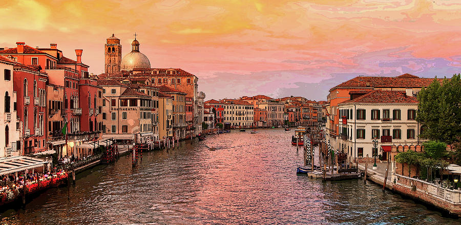 The Grand Canal in Venice at Sunset by Robert Blandy Jr