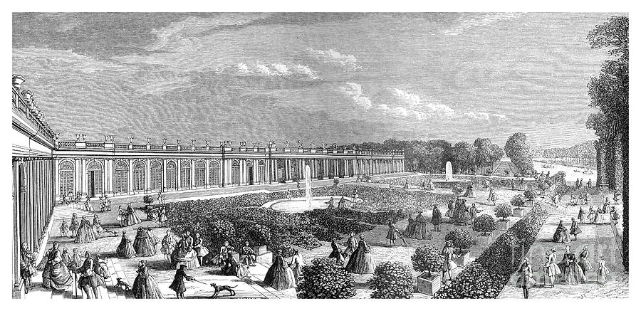 The Grand Trianon, 1885.artist Rigaud Drawing by Print Collector