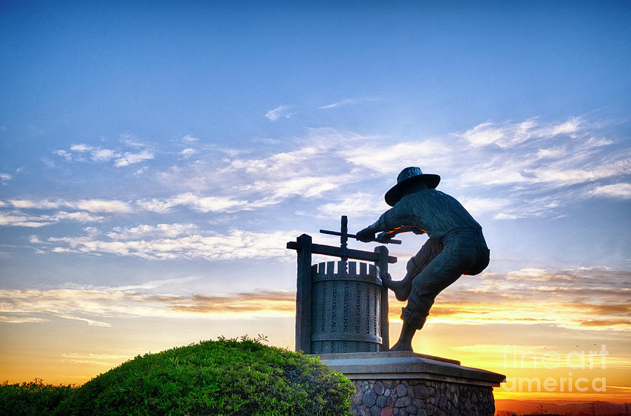 The Grape Crusher Statue A Symbol of Napa by George Oze