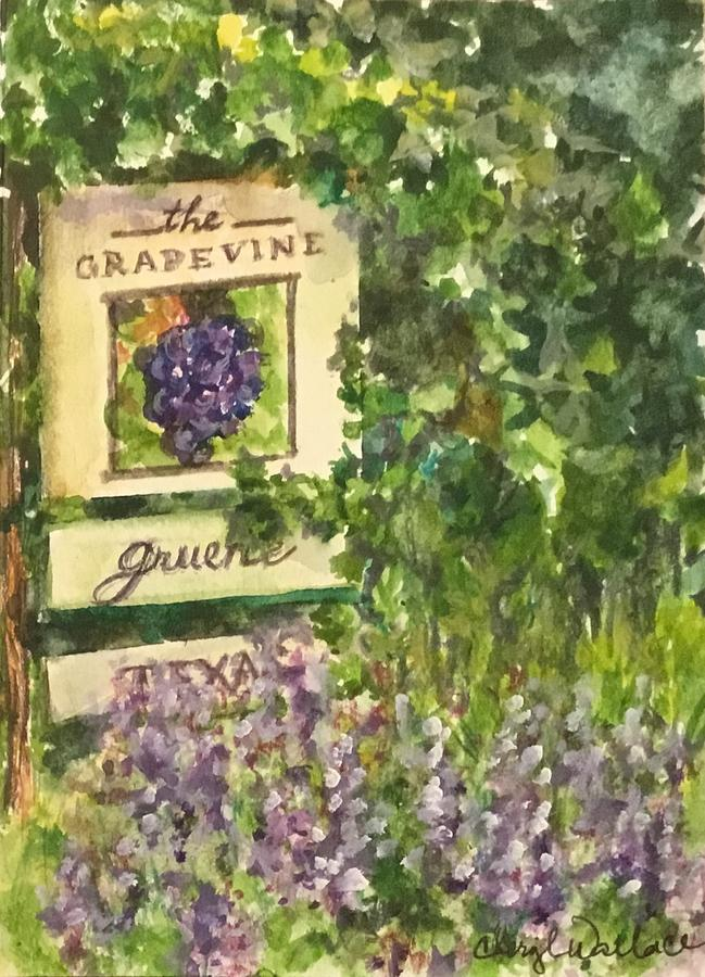 Texas Painting - The Grapevine in Gruene by Cheryl Wallace