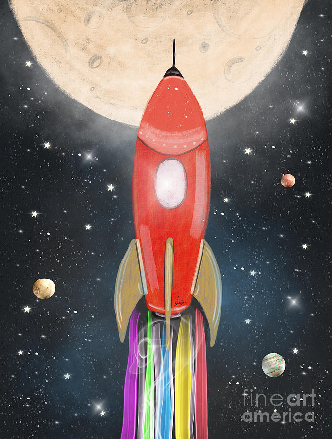 Space Painting - The Great Adventure by Bri Buckley