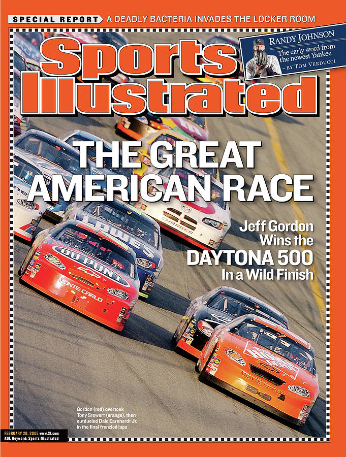 The Great American Race Jeff Gordon Wins The Daytona 500 In Sports Illustrated Cover Photograph by Sports Illustrated