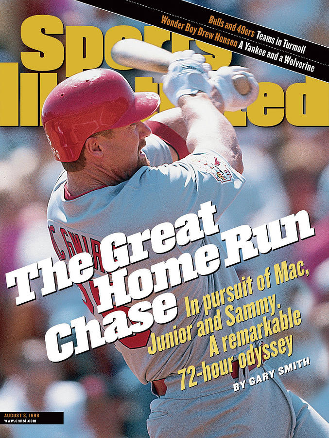 The Great Home Run Chase In Pursuit Of Mac, Junior And Sammy Sports Illustrated Cover Photograph by Sports Illustrated