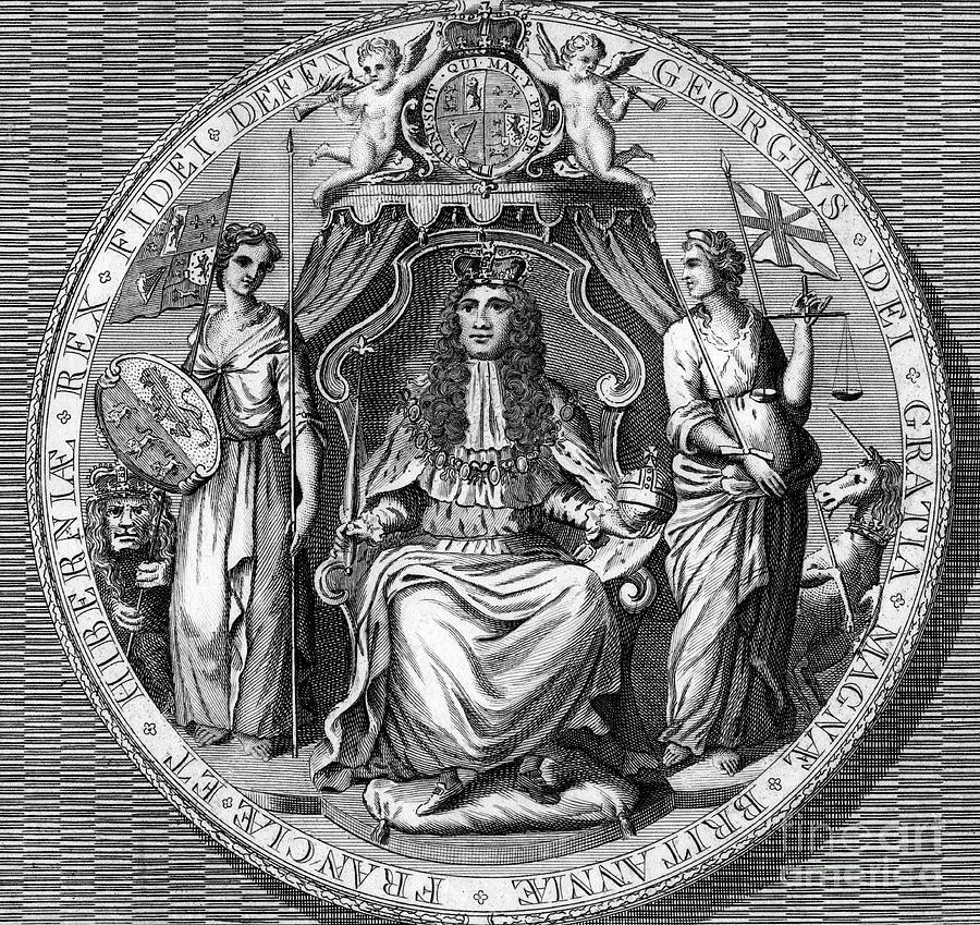 The Great Seal Of King George I. Artist Drawing by Print Collector
