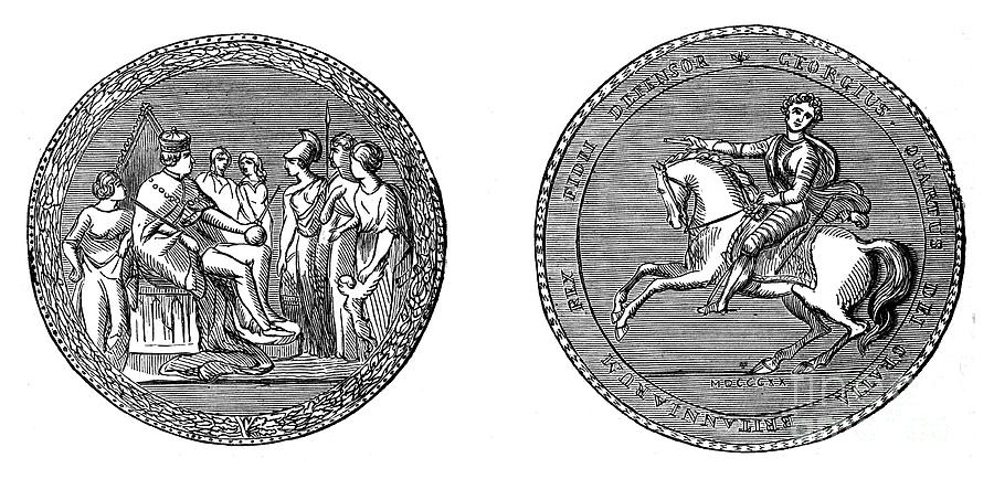 The Great Seal Of King George Iv, C1895 Drawing by Print Collector