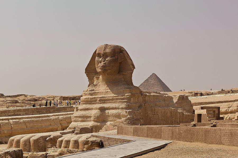 The Great Sphinx And The Pyramid Of Photograph by Wavelet Photography