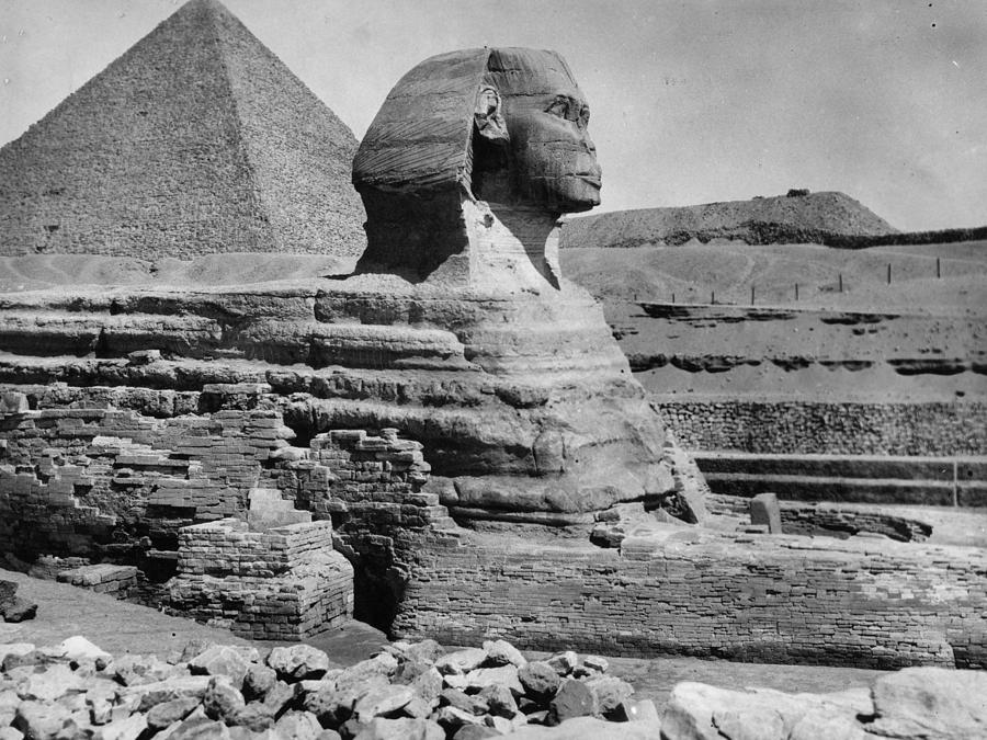 The Great Sphinx Photograph by Hulton Archive