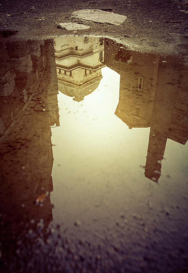 The Great Synagogue Of Rome Mirrored In Photograph by Piola666