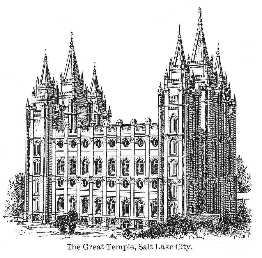 The Great Temple Of Salt Lake City Digital Art by Thepalmer