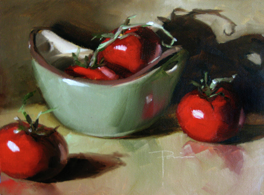 Still Life Pastel - The Green Pot by Dianna Ponting