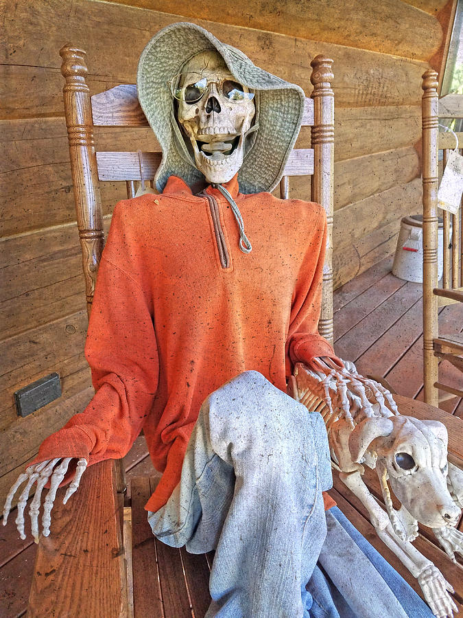 Skeleton Photograph - The Greeter by Betsy Knapp