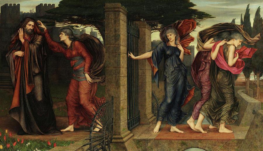 Evelyn De Morgan Painting - The Grey Sisters, 1881 by Evelyn De Morgan