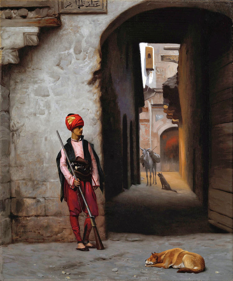 Jean Leon Gerome Painting - The Guard - Digital Remastered Edition by Jean-Leon Gerome