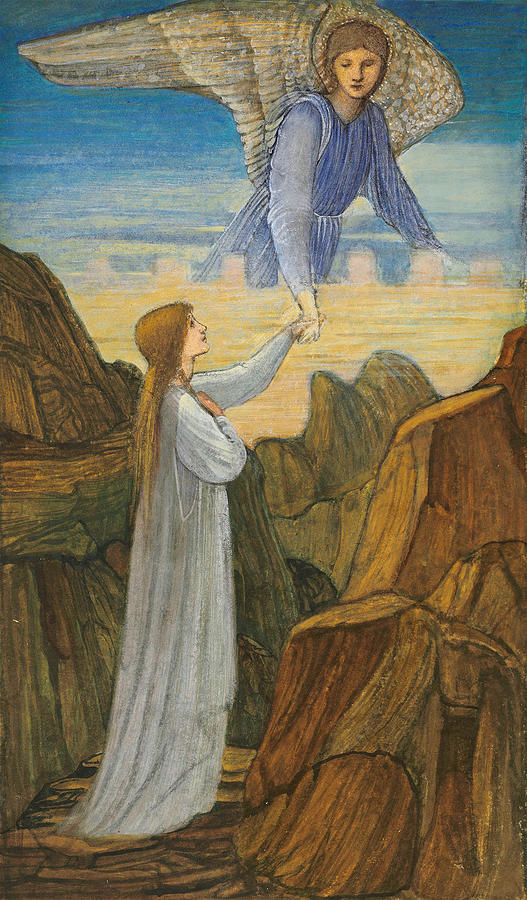 The Guardian Angel by Edward Burne-Jones