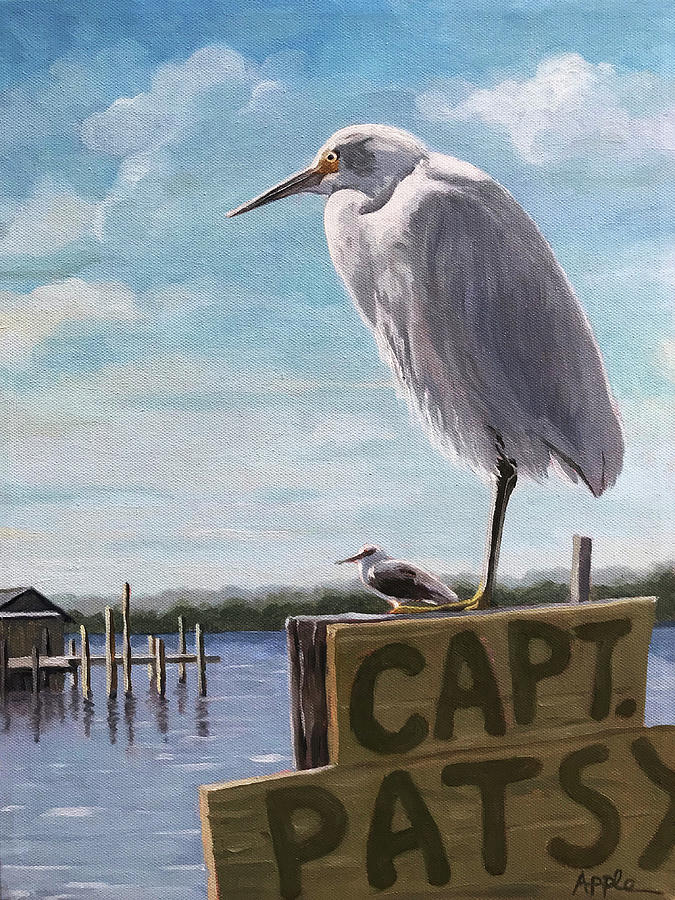 The Guardians - Florida oil painting by Linda Apple
