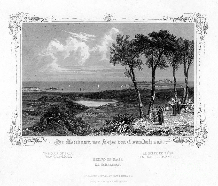 The Gulf Of Baja From Camaldoli, Italy Drawing by Print Collector