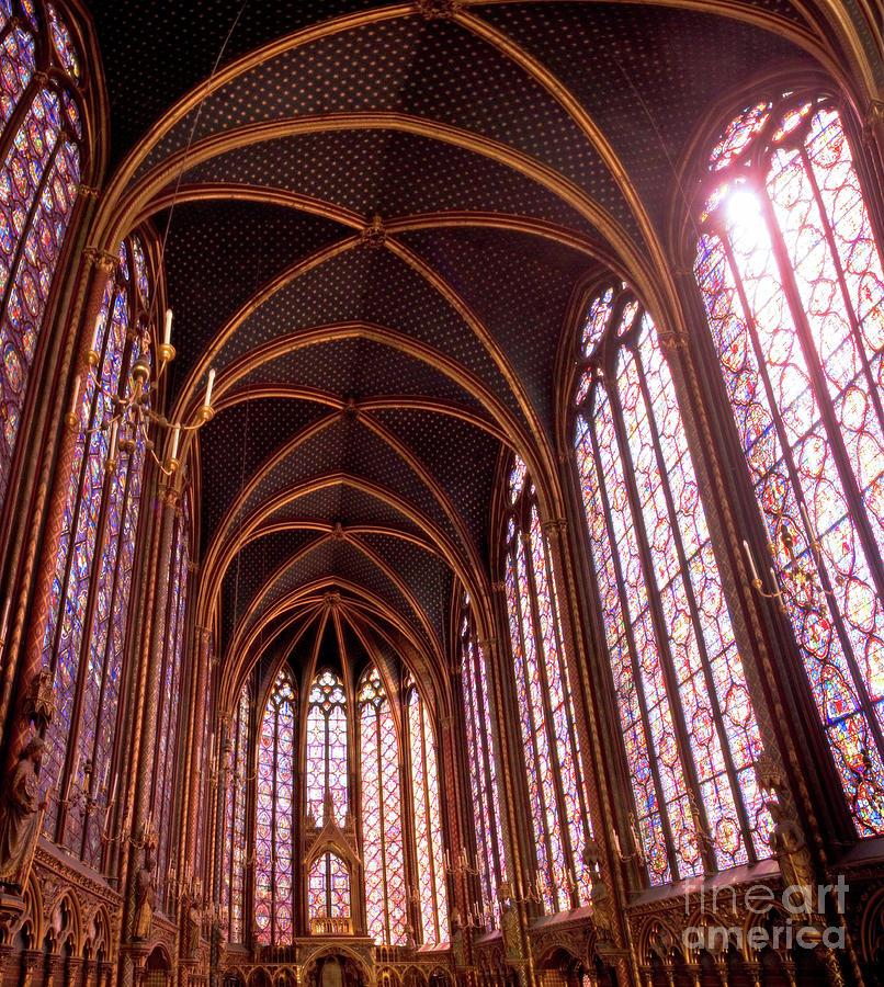 Sainte-chapelle Photograph - The Halls of Sainte Chapelle - Iconic Paris Landmark by Matt Tilghman
