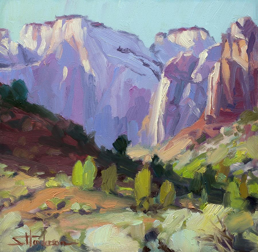 Zion Painting - The Halls of Zion by Steve Henderson